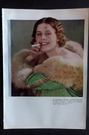 The Studio 1931 Vintage Art Deco Print. Carreras Cigarette Advert